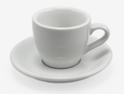 ACME demitasse cup and saucer set - white