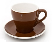 ACME demitasse cup and saucer set - brown