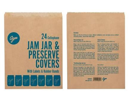 Agee jam jar preserve covers and labels