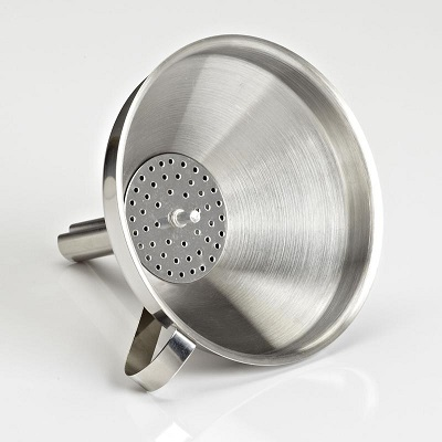 Stainless steel funnel - 14cm