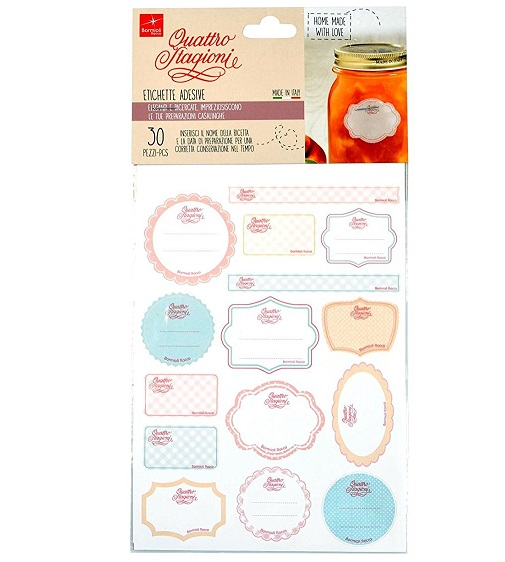 Bormioli adhesive labels - 30 stickers