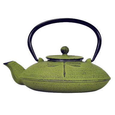 Cast Iron teapot - green dragonfly - 750ml